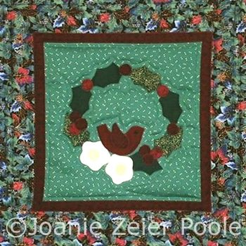 Christmas Tweet Machine Appliqué Block