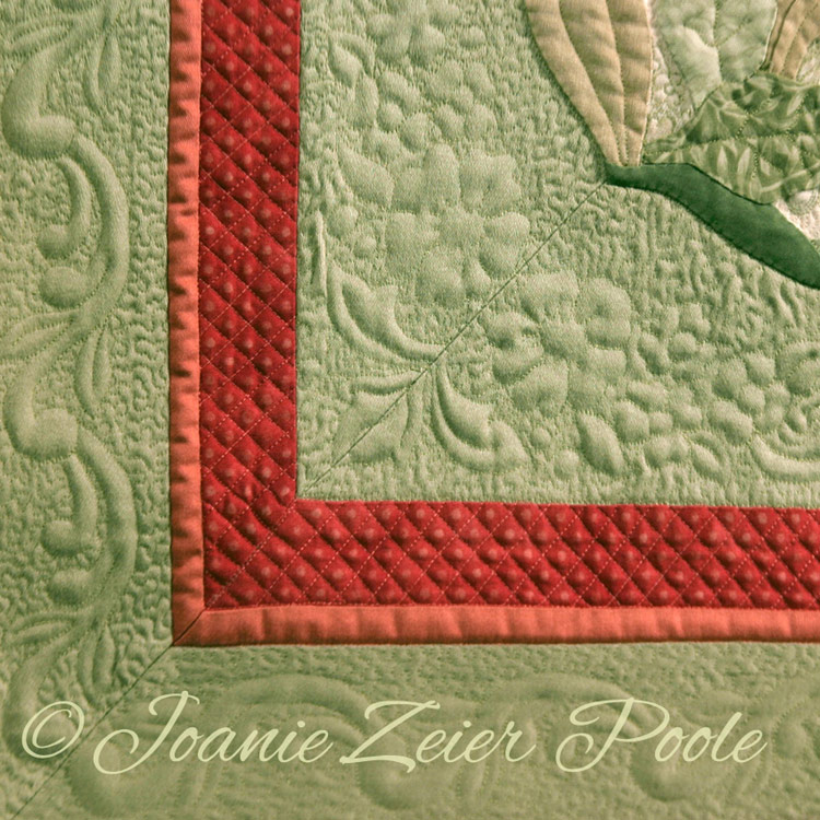 Lea's choice, corner of quilt
