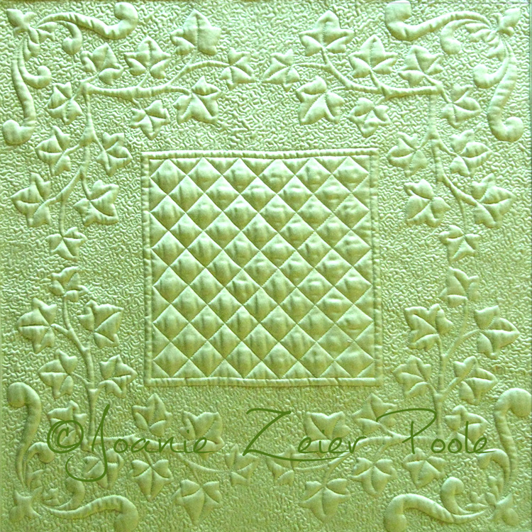 Ivy Wreath Wholecloth Quilt Pattern