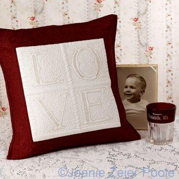Love Fancy Alphabet Pillow