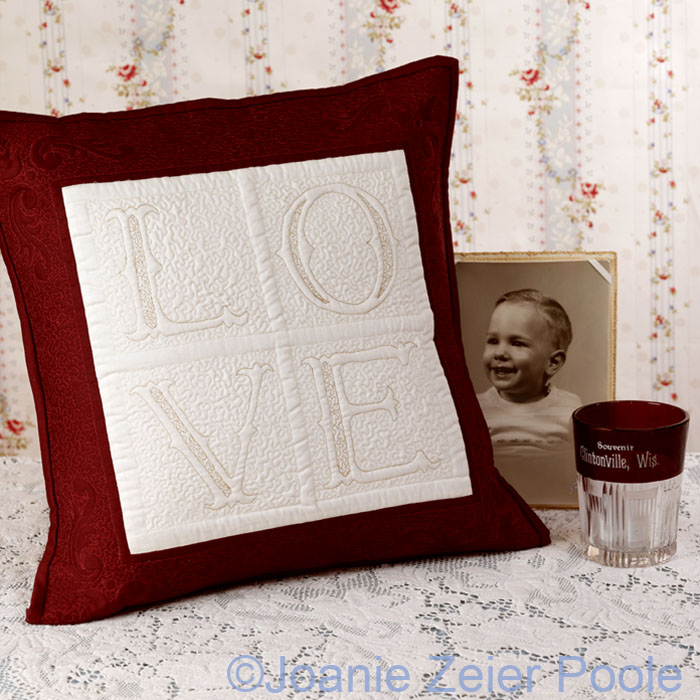 Love Fancy Alphabet Pillow