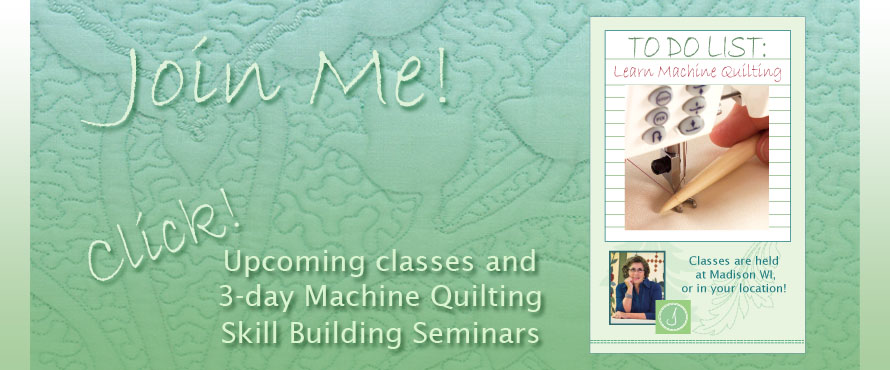machine quilting classes