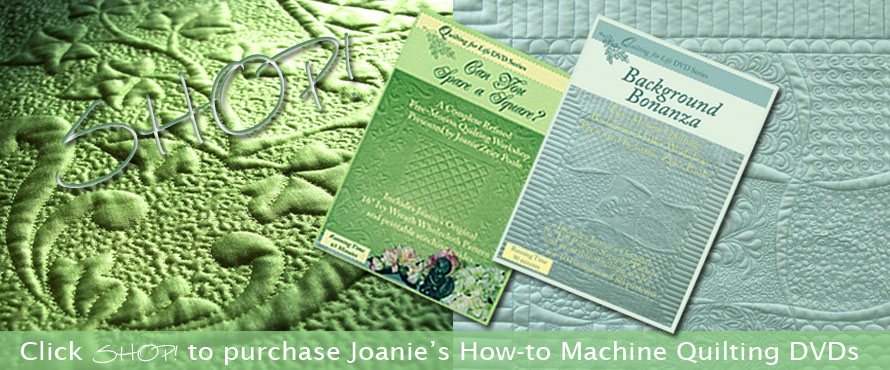 Joanie's machine quilting DVDs