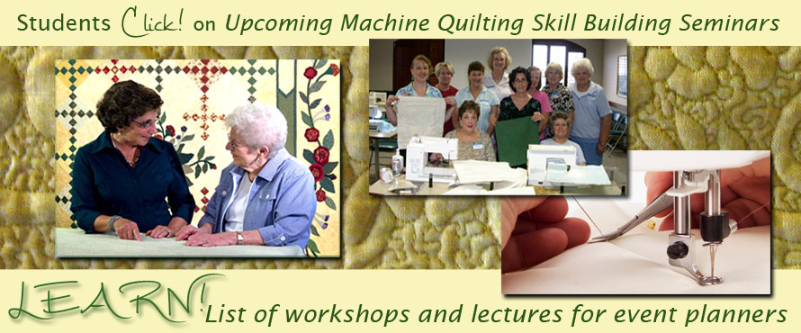 Machine Quilting Workshops Joanie Zeier Poole
