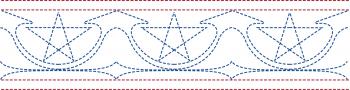 Colored Star Spangled Border
