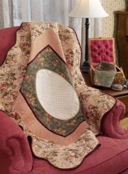 quilt in chair