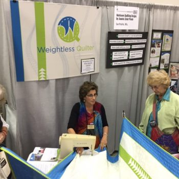 Weightless Quilter at quilt show