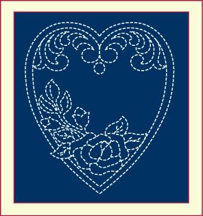 Free Quilting Design, Memorial Heart Quilting Design