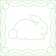 Bunny Quilting Design