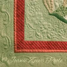 Lea's choice, corner of quilt