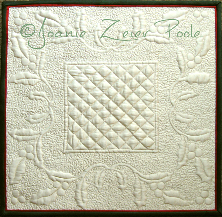 Holly Square Wholecloth Quilt