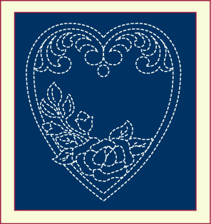Free Quilting Design, Memorial Heart Quilting Design